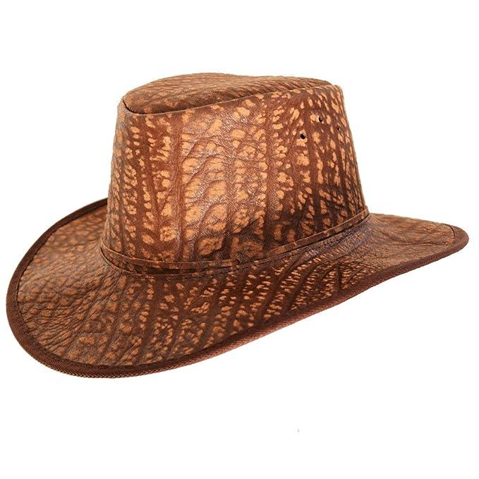 0ba1ae6f9b1e1 Bushwacker Cañonero Africano Buffalo Sombrero de Piel con Fly Banda   Amazon.es  Ropa y accesorios