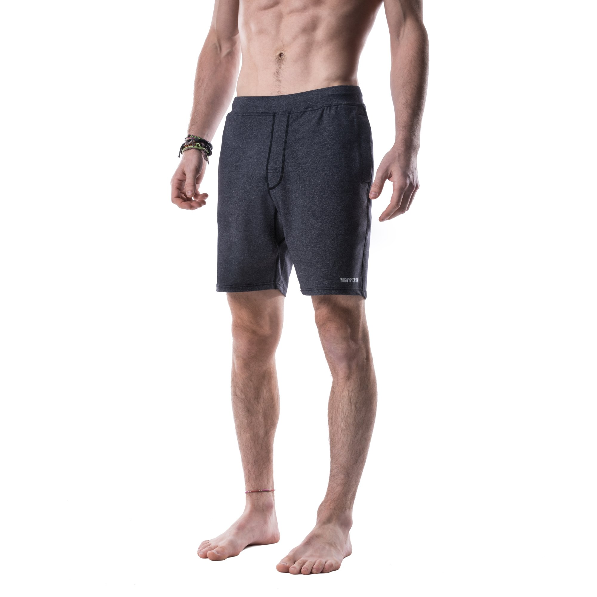 Yoga Crow Mens Swerve Shorts w/Odor-Resistant Liner X-Small Heather Grey