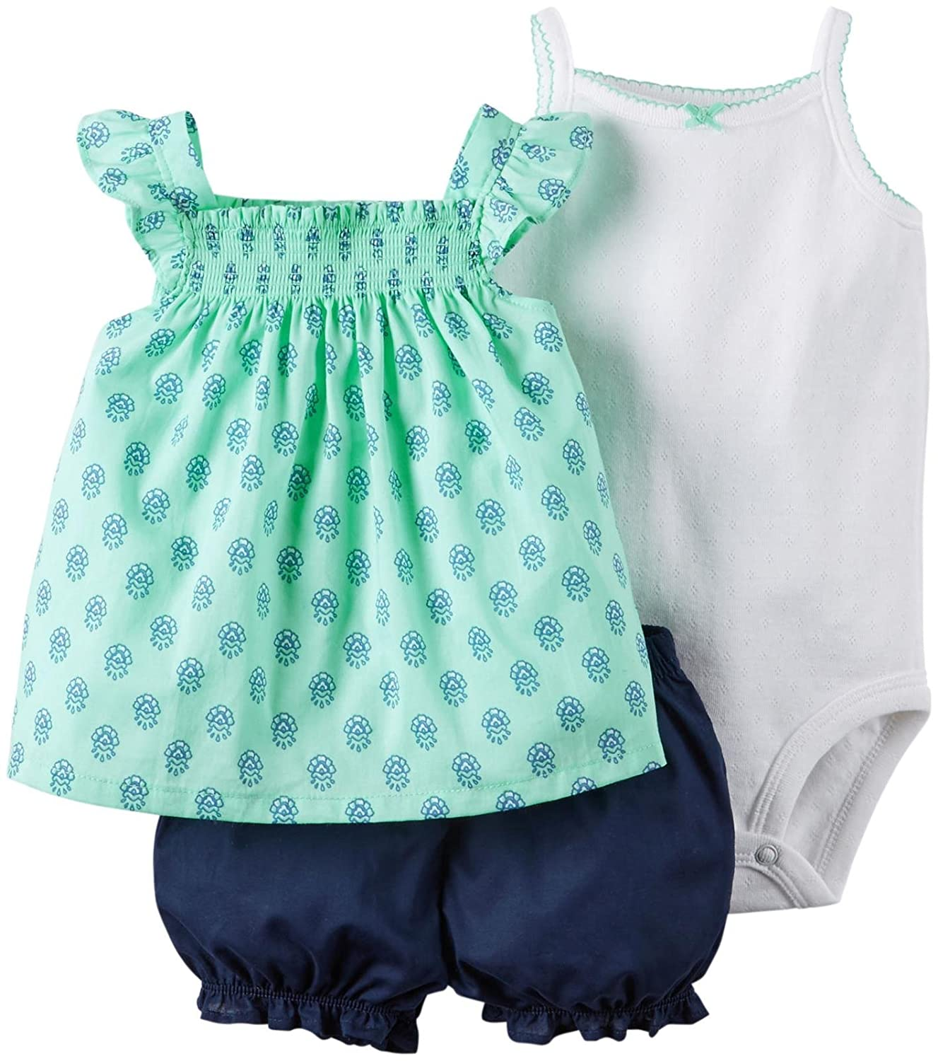 Carter's Baby-Girls Girl Diaper Cover Set Mint Geo Print Carters 121G400