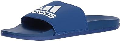 21976a39fb87b adidas Men s Adilette CF+ Logo Slide Sandal Collegiate Royal White