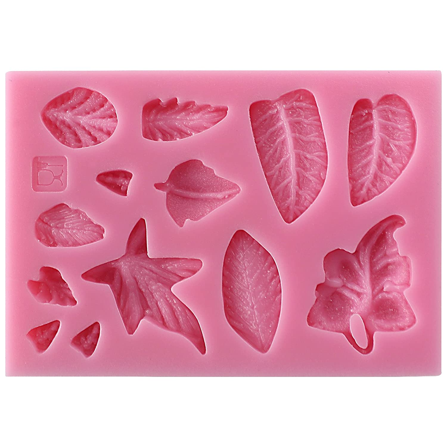 Crafting Projects Wax Polymer Clay Resin Butter Soap Funshowcase Fondant Large and Small Leaves Silicone Mold for Sugarcraft Fondant Cake Decoration