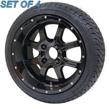 """Night Stalker 14 """"negro Golf carro ruedas con neumáticos de bajo perfil calle –"""