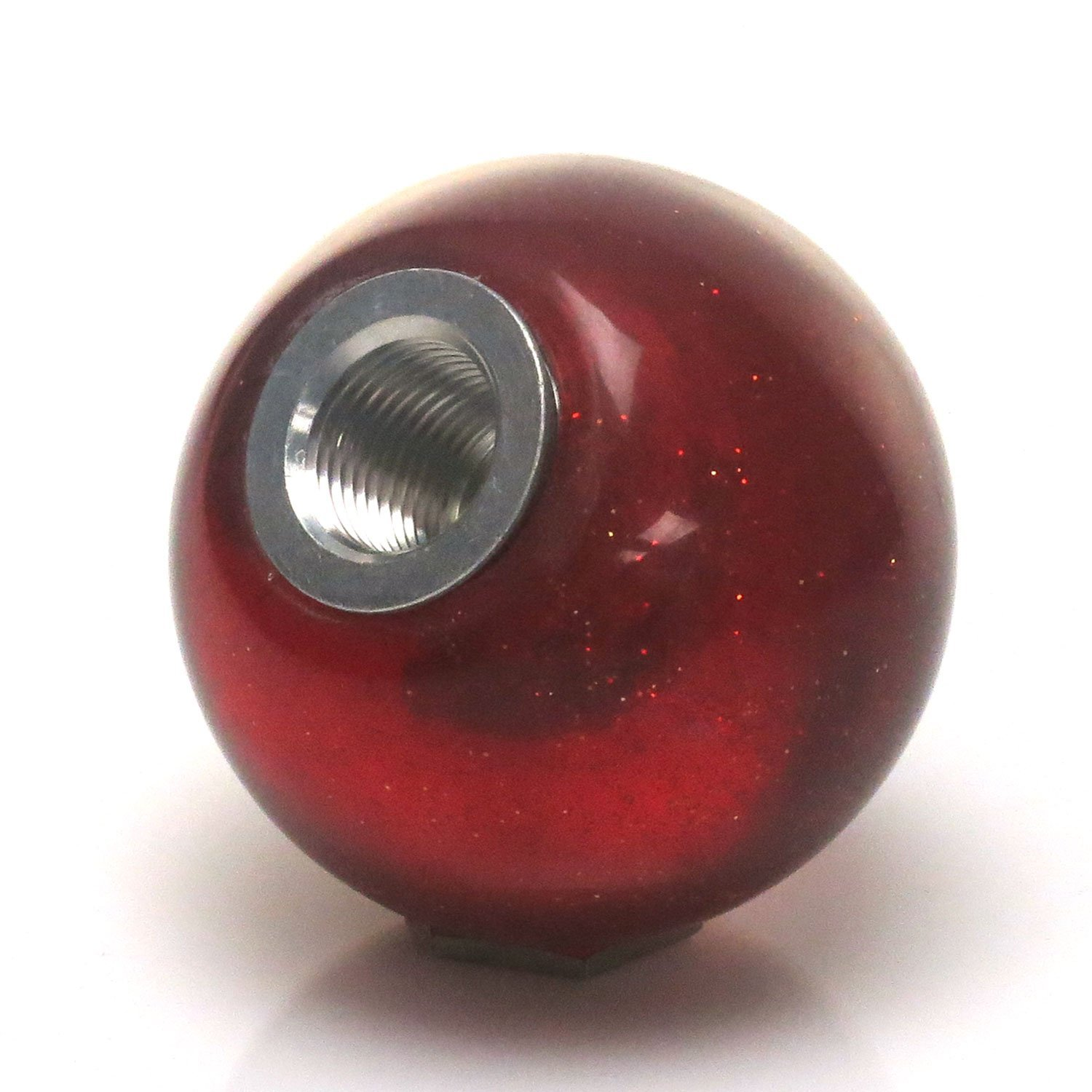American Shifter 282230 Shift Knob Company Blue Okay Red Metal Flake with M16 x 1.5 Insert