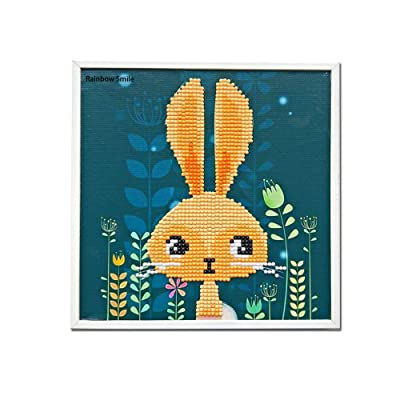 XUBX Diamond Painting for Kids,Diamond Art by Number Kits for Children Boys and Girls Gift (Rabbit): Toys & Games
