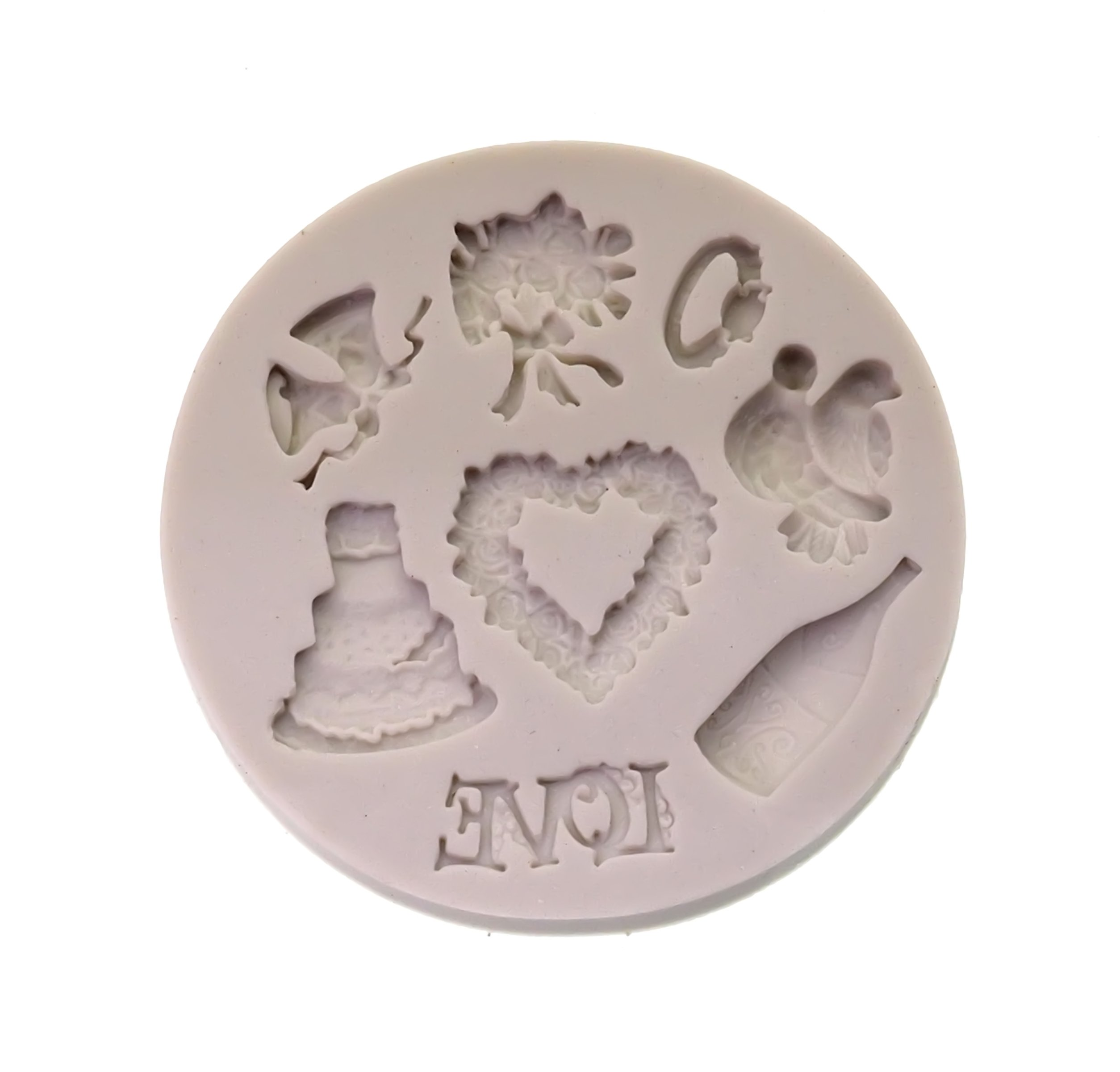 Creationtop Silicone Mold Teddy Bears Fondant and Gum Paste Candy Cake Baking Mold For Cake Decorating (Wedding Love) by CREATIONTOP (Image #1)