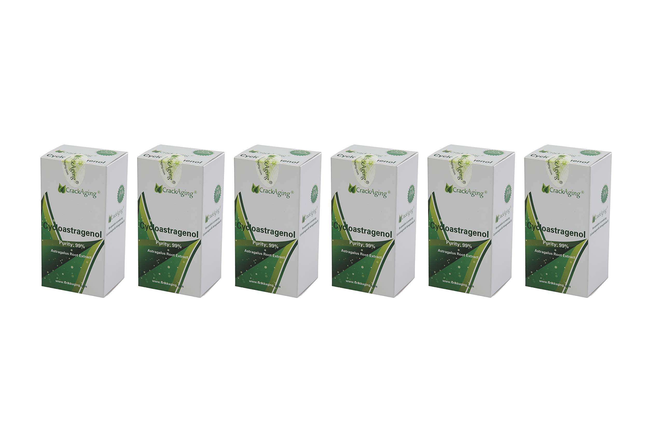 Super-Absorption Cycloastragenol 98% (10mg/Cap, 360 Caps in 6 Bottles)-Telomere & Anti-Aging Supplement Veggie Capsules
