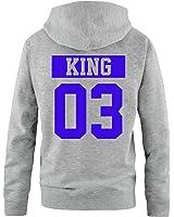 p rchen hoodie king and queen krone damen und herren. Black Bedroom Furniture Sets. Home Design Ideas