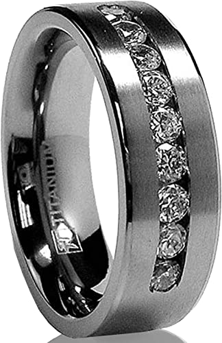8mm Men/'s Cool Black Titanium Steel Band Ring Wedding Anniversary Rings Jewelry