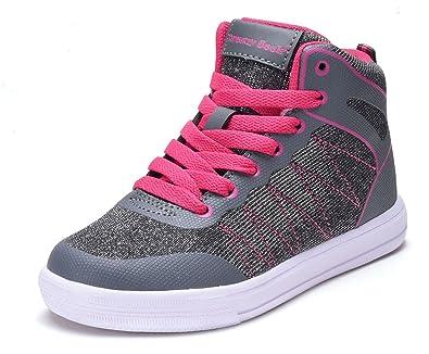 Amazon Com Dream Seak New Girls Tennis Shoes High Top Glitter