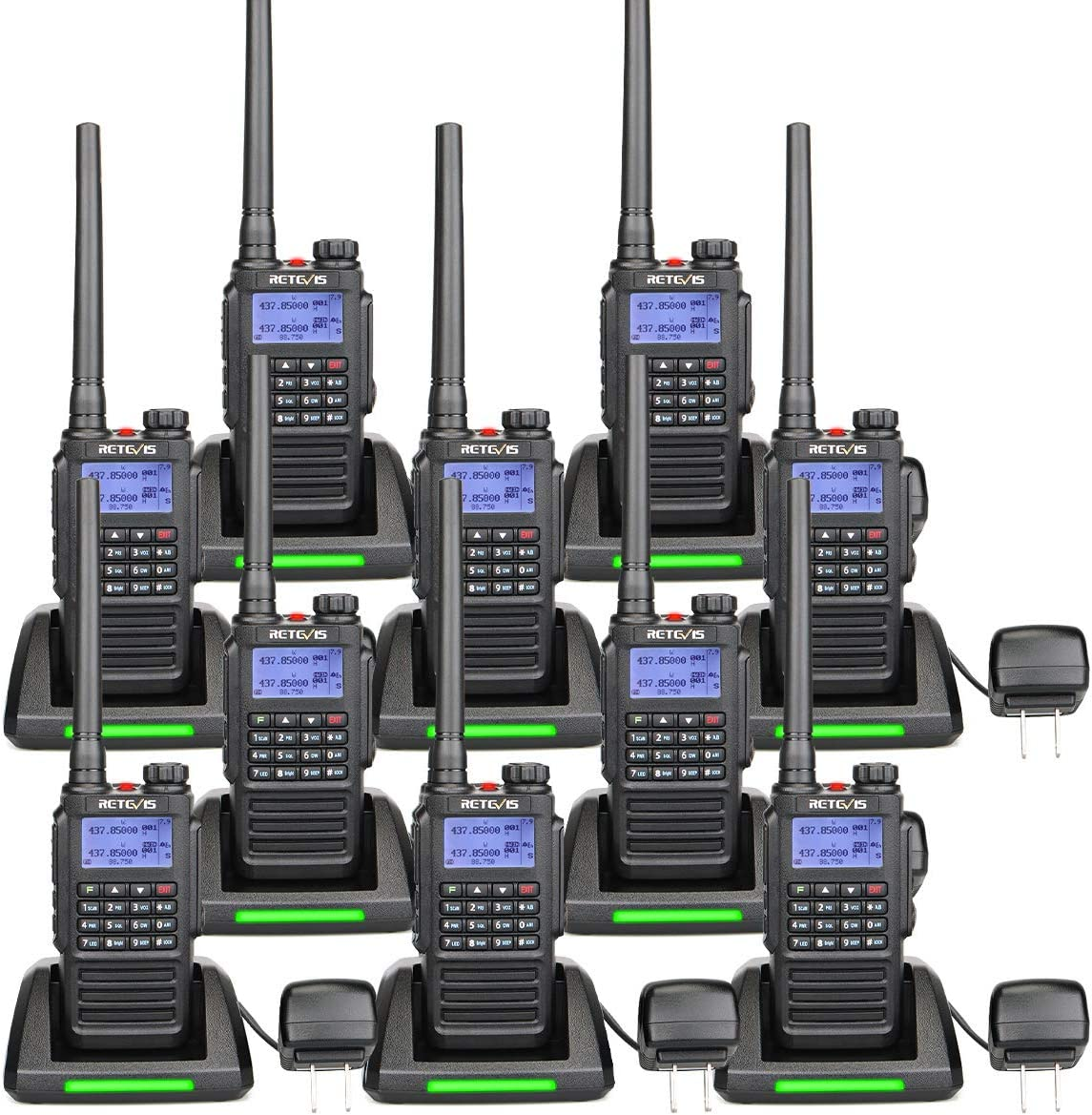 Retevis RT87 2 Way Radios Walkie Talkies Long Range,VHF UHF Dual Band High Power, Waterproof Walkie Talkie for Heavy Duty Business Environment