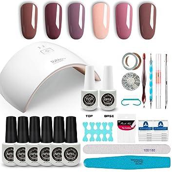Girlydream Kit Professionnel Manicure Semi Permanent Gel Lampe Uv