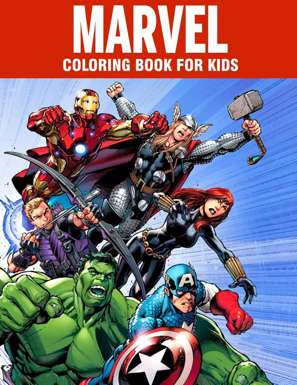 MARVEL coloring book for kids: Super Heroes illustrations ...