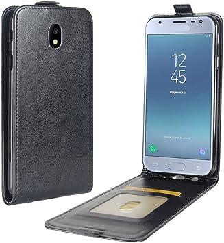 Funda® Capirotazo Billetera Funda para Samsung Galaxy J3(2017) (Negro): Amazon.es: Electrónica