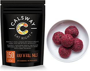 (Pack of 6) 150 Calories Cranberry Rock'n'Roll balls by Calsway, Source of Energy, great for Raw and Vegan diets