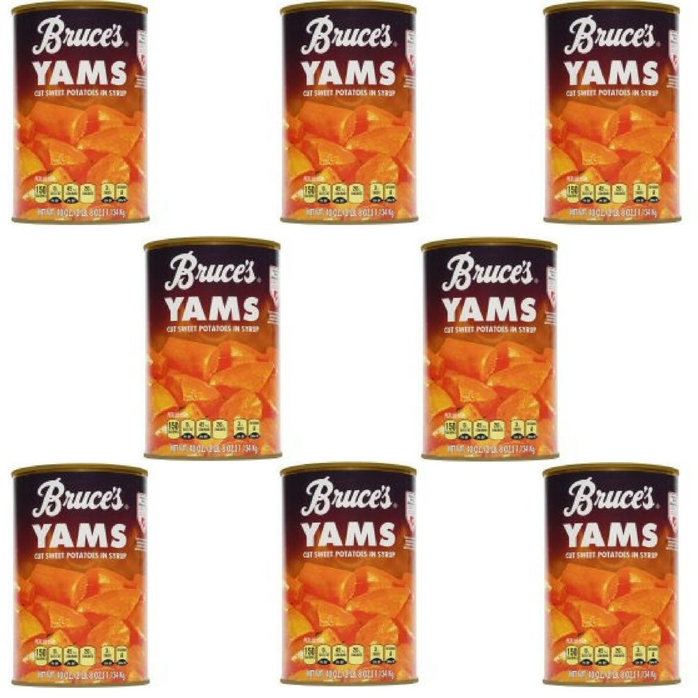 Bruce's Yams Cut Sweet Potatoes in Syrup, 40 oz - Pack of 8