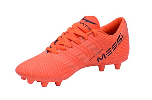 aaf99e666a4 Trady Messi Men s Orange Sport Synthetic Football Shoes   Studs Shoes for  ...