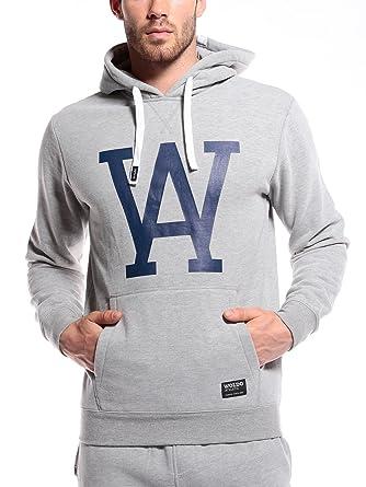 WOLDO Athletic Herren Hoodie Kapuzenpullover Pullover Sweatshirt (M,  Sullivan Grey) 20dabc5c36