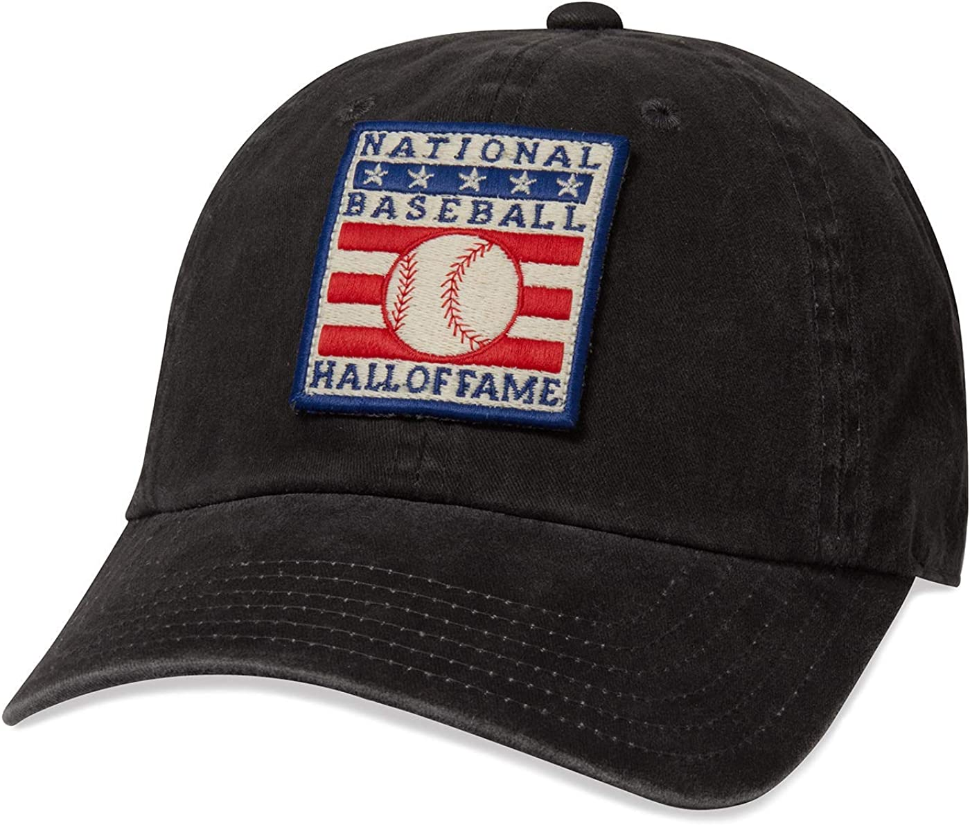 Black 44747A-NBHOF AMERICAN NEEDLE National Baseball Hall of Fame Hat Buckle Strap