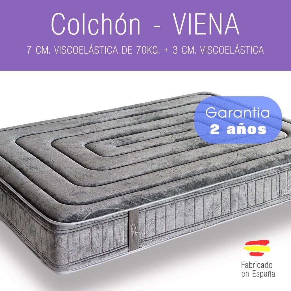 MKM - COLCHON - VISCOELASTICO - Viena - 180 x 90 - Garantía 2 años.: Amazon.es: Hogar