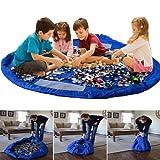 Tappetino per giochi semplici che si trasforma in sacco di raccolta - ideale per una veloce raccolta di Lego, Duplo e giocattolo vari (Dimensioni - 150cm)