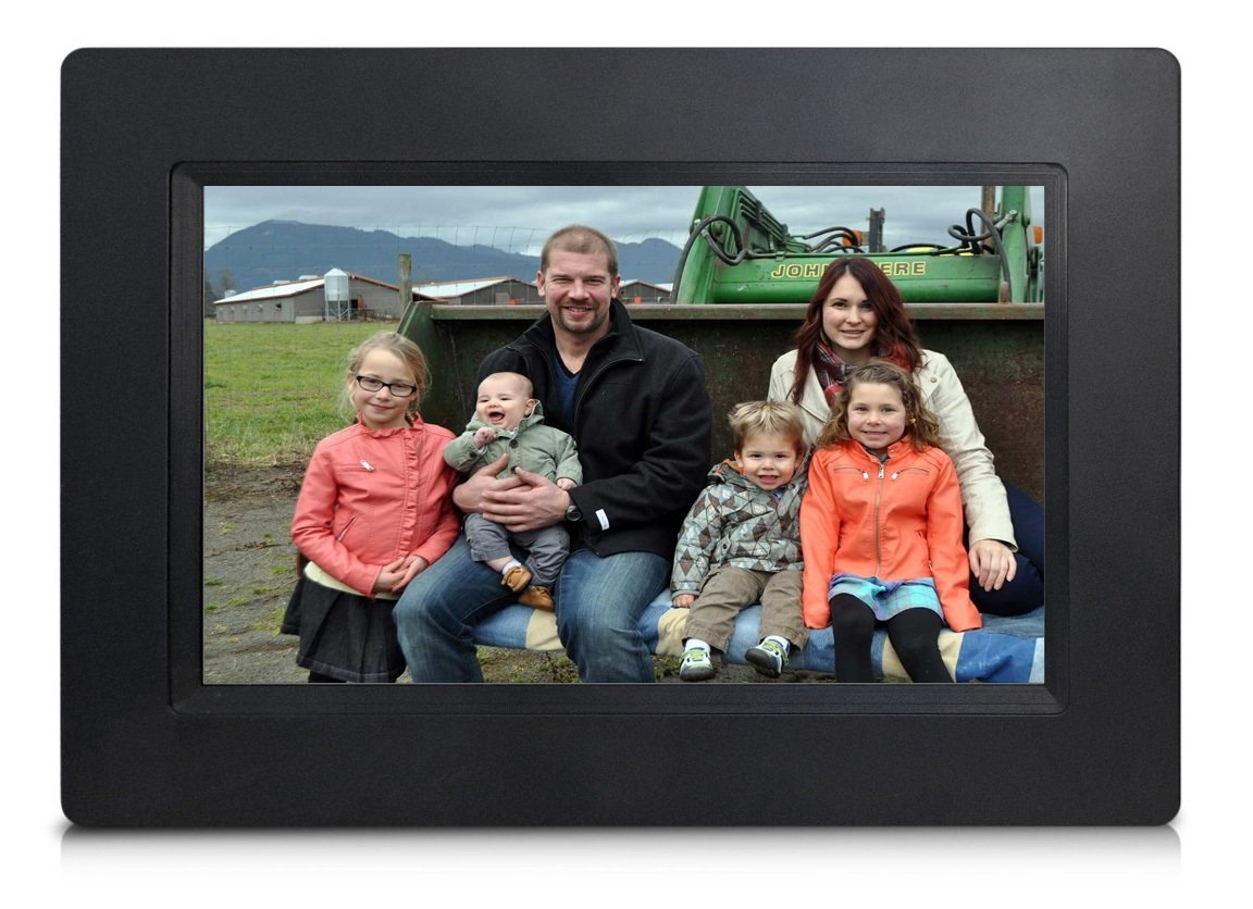 [LATEST UPDATE] 7'' Smart WiFi Cloud Digital Photo Frame - includes 5GB free Cloud storage, iPhone & Android APP, Facebook, Dropbox, Real-time photos, Movie Playback