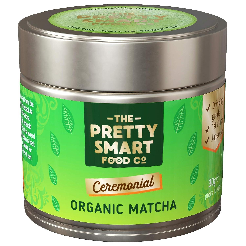 Organic Matcha Green Tea Powder Ceremonial Grade | Japanese Premium Matcha Tea | First Harvest Single Source Leaf | Grade AAA | Detox, Weight Loss Metabolism and Energy | Pure Flavour | 30g