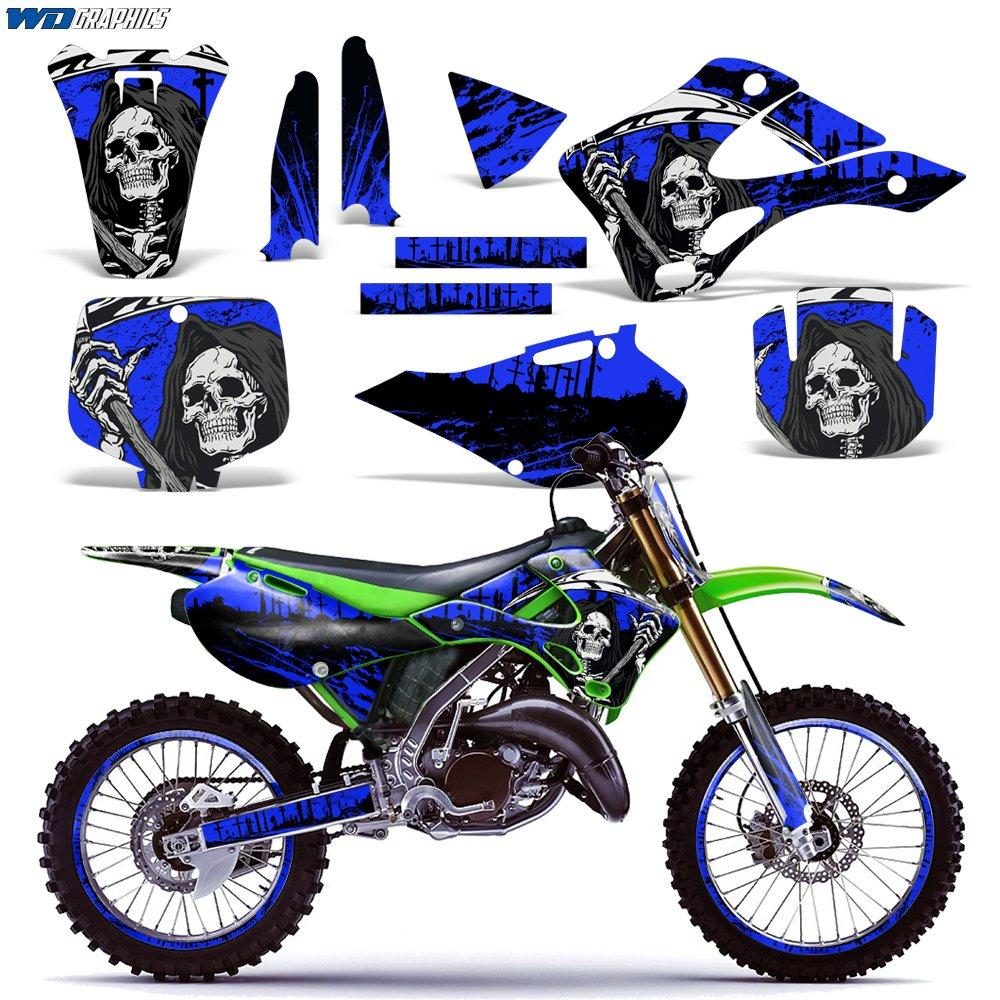 Amazoncom Kawasaki Kx125 Kx250 1999 2002 Graphics Kit Dirt Bike Mx