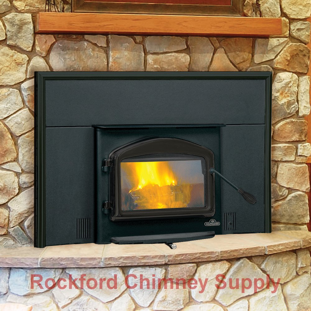 Rockford Chimney Supply Napoleon 1101 Wood Burning Fireplace Insert with Heat Circulating Blower by Rockford Chimney Supply