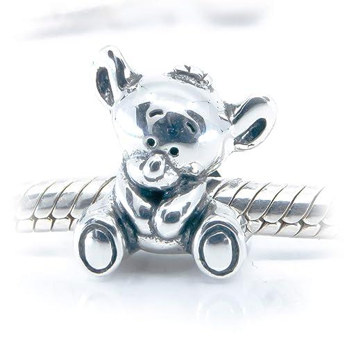 Amazon.com: Koala Bear Sterling Silver Charm Bead S925, Cute Baby ...