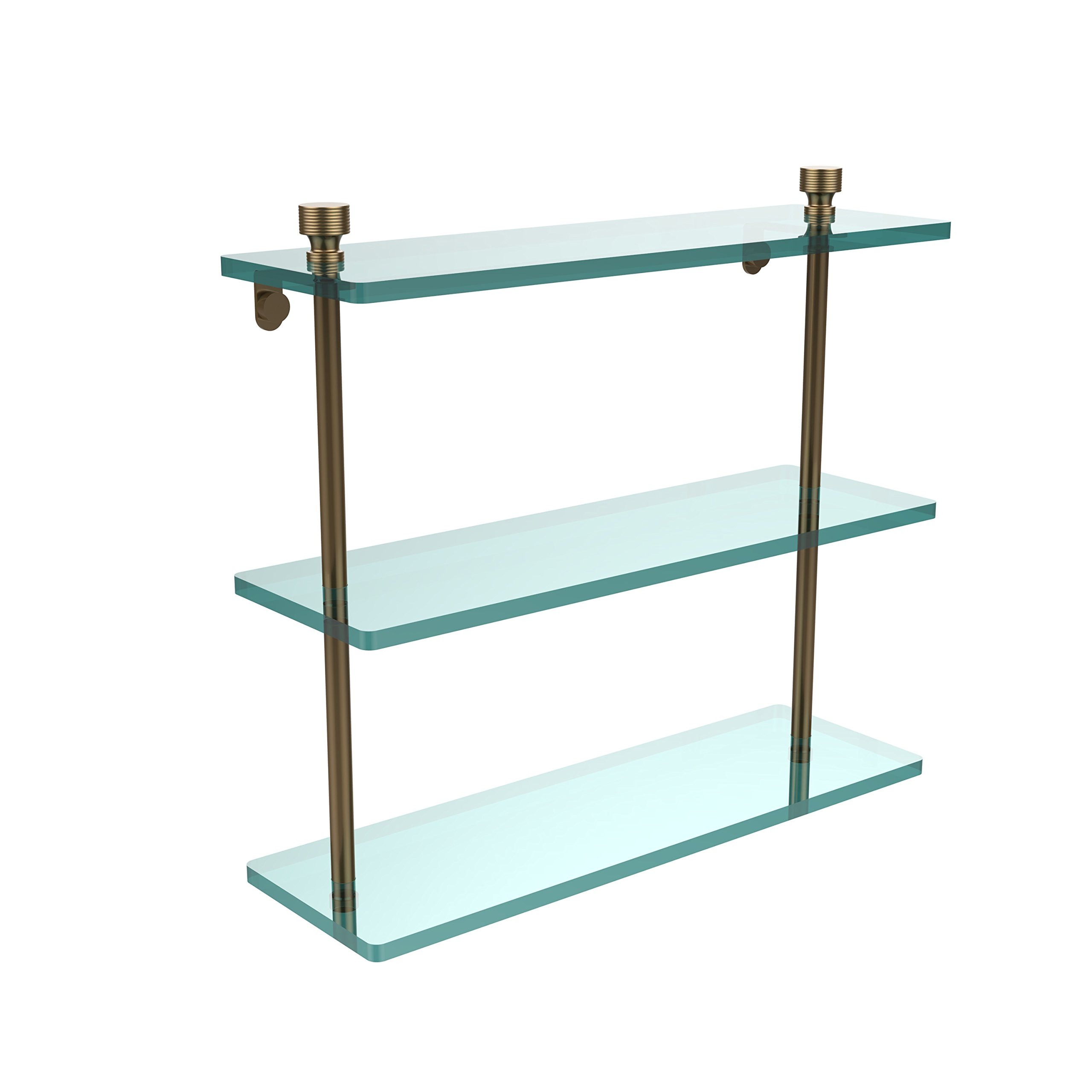 Allied Brass FT-5/16-BBR Triple Glass Shelf 16'' Brushed Bronze