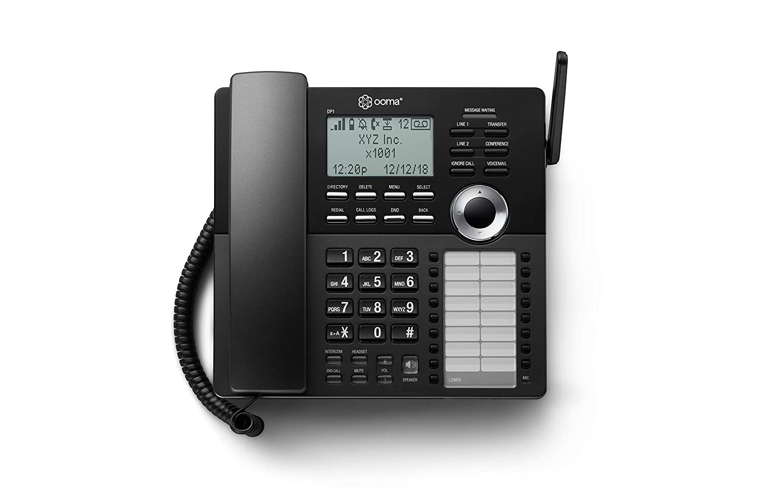Ooma Office DP1-O Business Desk Phone –Connects wirelessly to Ooma Office base station. Works with Ooma Office cloud-based VoIP phone service for small business.