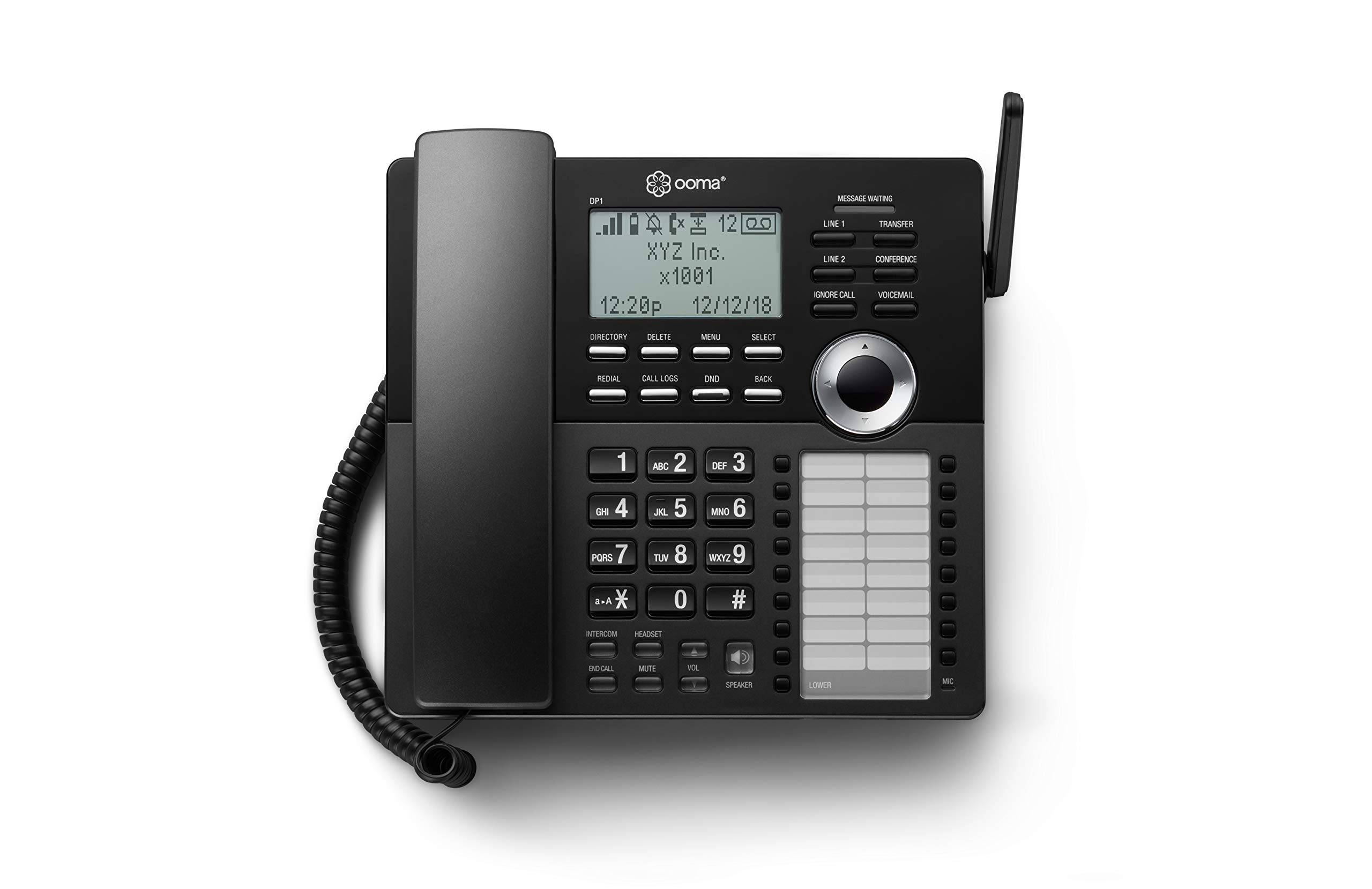 Ooma DP1-T Desk Phone for Home Office, Black by ooma