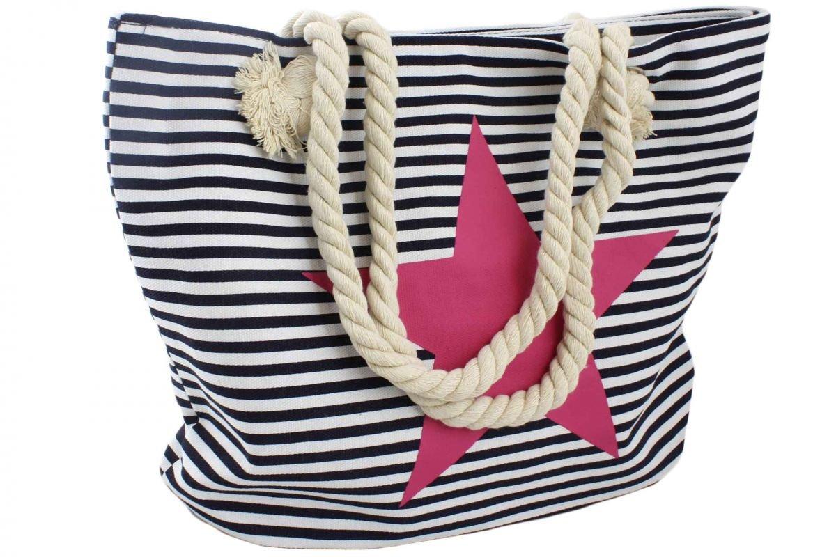 """Sonia Originelli Strandtasche Stern /""""Lena/"""" Beachbag Tasche Bag Streifen Maritim"""