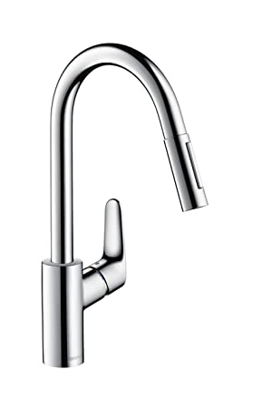 Brandneu hansgrohe Focus kitchen tap 240 with pull out spray and 150  YZ39