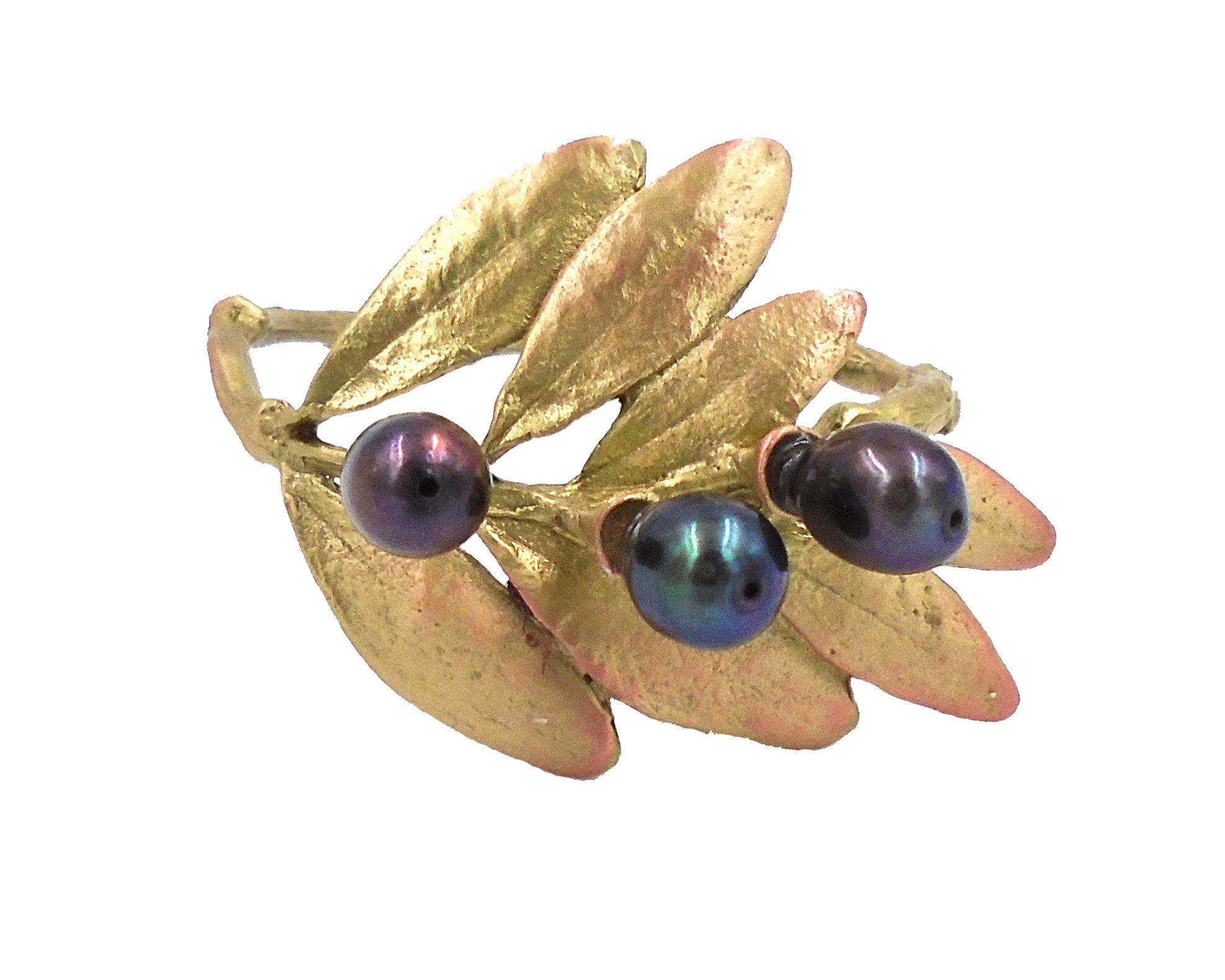 Olive Napkin Rings (Set of 4) ~ Table Art by Michael Michaud for Silver Seasons