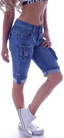 Boyfriend Caprijeans Capri Jeans Hose Hüftjeans Baggy Bermudas Shorts s m l  xl 36 38 40 42 gr b8e090a9d7