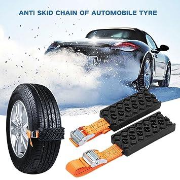 ... Cadenas antideslizantes para neumáticos de automóviles cubiertas de la rueda de nieve de invierno para coche/SUV/camión: Amazon.es: Coche y moto