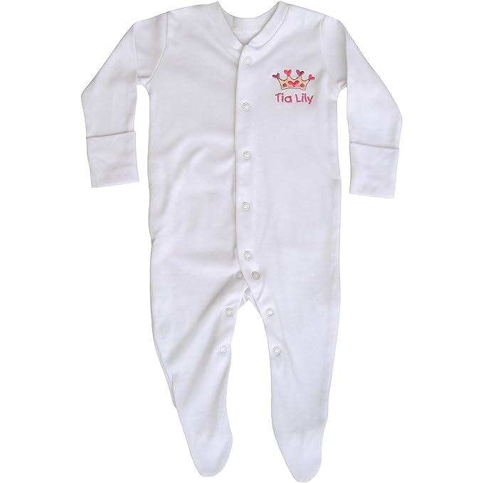 TeddyTs con Mangas para bebé de equitación para niña de Color Blanco de Personalizado de tu