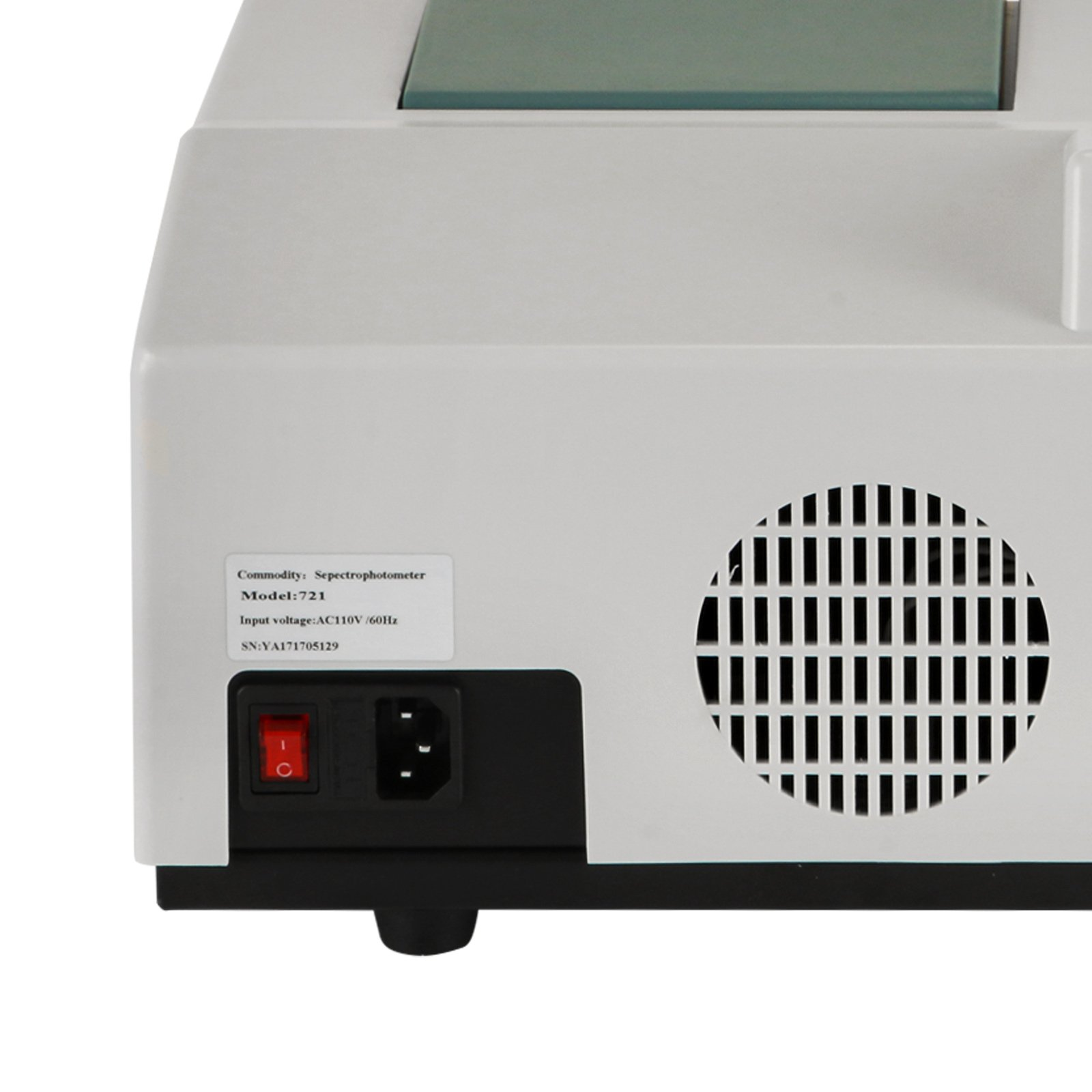 BestEquip 6nm Visible Spectrophotometer 721 350-1020nm Wavelength Range Spectrophotometer Portable Lab Equipment (Type 721)