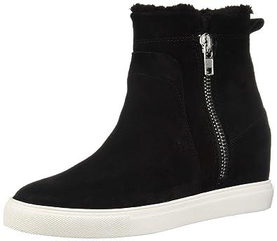 ce022eb171b0 STEVEN by Steve Madden Women s CAMELA Sneaker Black Suede 6.5 ...