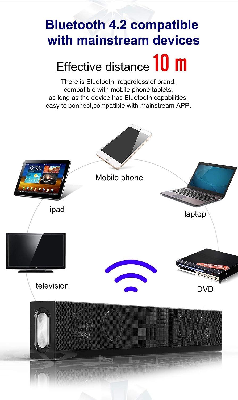 Barra de Sonido Altavoz PC de 20W Sonido USB,Barra de Sonido de TV, Altavoz Bluetooth con Cable e inalámbrico Altavoz, teléfono Celular,TV,Sonido Fuerte,Soporte RCA/AUX/Bluetooth, con Control Remoto: Amazon.es: Electrónica