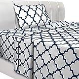 Utopia Bedding Printed Bed Sheet Set - 3 Piece Microfiber Bedsheet Set (Twin, White)