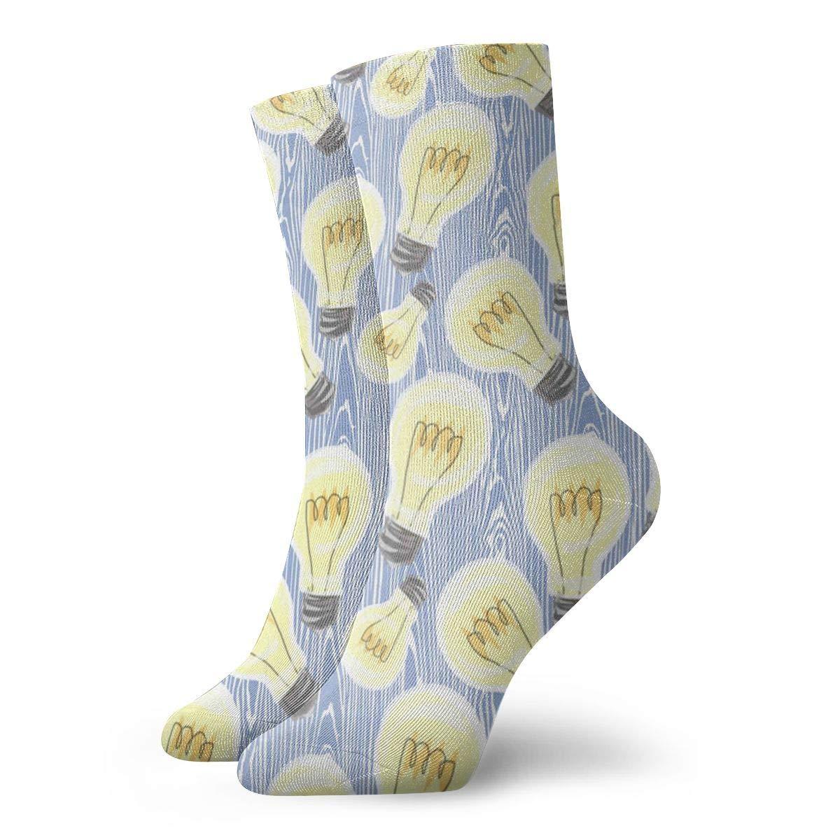 Sports TAOMAP90 Yellow Light Bulb Pattern Compression Ankle Socks for Women and Men Slipper Stance Socks Baseball Best for Travel