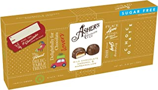product image for Asher's Chocolates, Sugar Free Caramels, Milk Chocolate Caramel and Marshmallow Chocolates, Sugar Free Holiday Gift, Giftable Design, Family Owned Since 1892, 4.6 Ounce (Sugar Free)