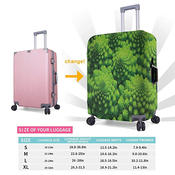 GIOVANIOR Vegetable Broccoli Luggage Cover Suitcase Protector Carry On Covers