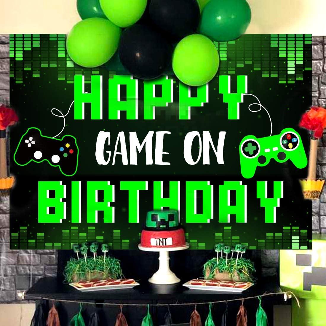 Fondo de cumplea/ños de Videojuegos para Boys Gaming Party Photo Background para Game on Birthday Party Supplies