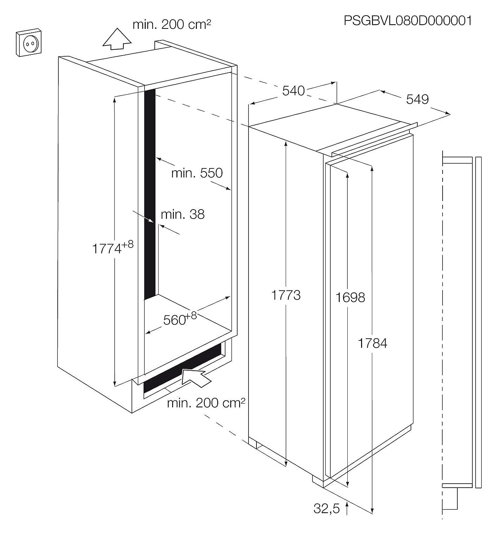 AEG AGN71800F0 Integrado Vertical 208L A+ Blanco - Congelador ...