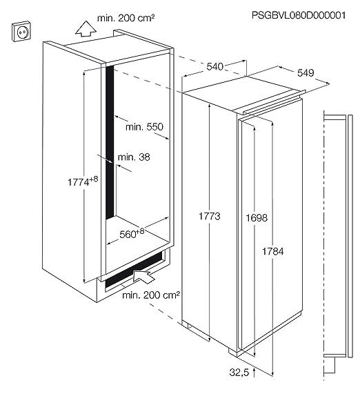 AEG SKD71800F0 Integrado 330L A+ Blanco - Frigorífico (330 L, 34 ...