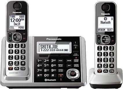 Panasonic teléfono inalámbrico teléfono, link2cell Bluetooth teléfonos inalámbricos DECT 2: Amazon.es: Electrónica