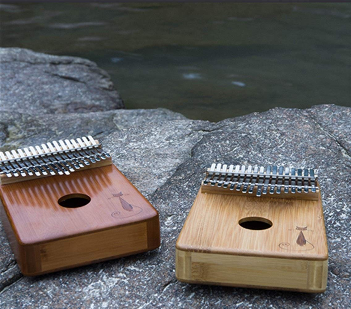 Youshangshipin Kalimba, 17-key thumb piano, suitable for professional performance (gift; velvet bag, thumb piano, tuning hammer) Classical style (Color : 6) by Youshangshipin (Image #3)